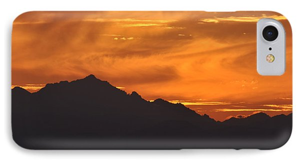 IPhone Case featuring the photograph Burning Sky by Simona Ghidini
