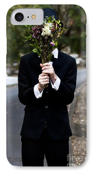 Burying Face In Funeral Flowers IPhone Case