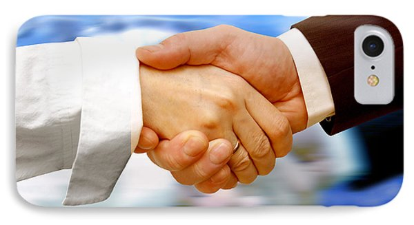 Business Handshake IPhone Case