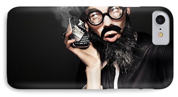 Business Man Talking On Broken Smart Mobile Phone IPhone Case by Jorgo Photography - Wall Art Gallery