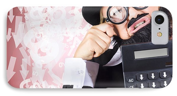 Business Person Crying During Financial Crisis IPhone Case