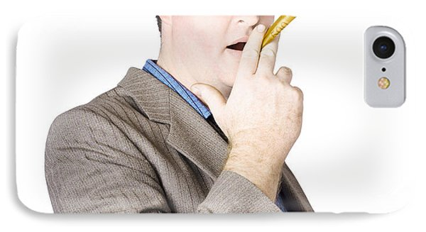 Businessman Making Cigarette Of Rolled Banknote IPhone Case