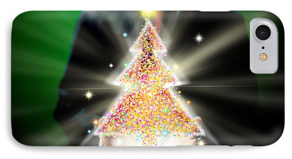Businessman With Christmas IPhone Case by Atiketta Sangasaeng