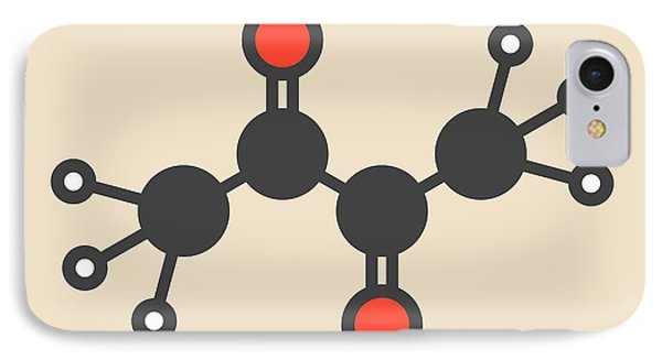 Butter Flavouring Molecule IPhone Case by Molekuul