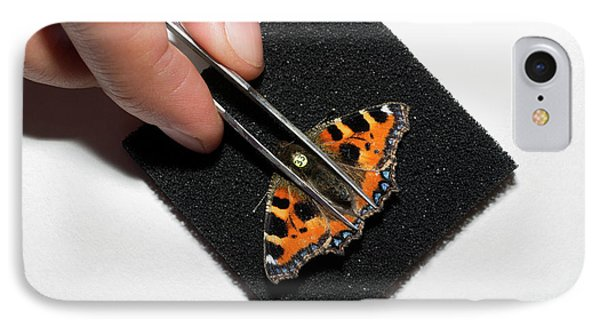 Butterfly Radar Tagging IPhone Case by Louise Murray