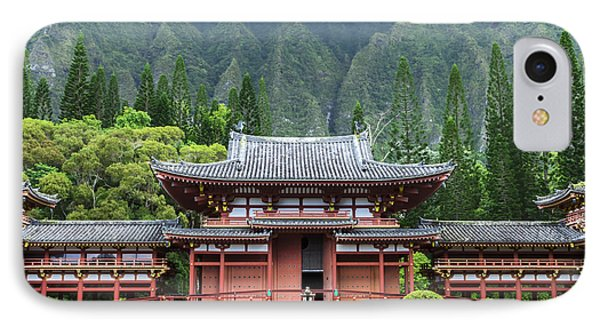 Byodo-in Temple 1 IPhone Case by Leigh Anne Meeks