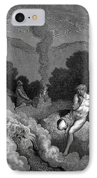 Cain And Abel Offering Their Sacrifices IPhone Case by Celestial Images