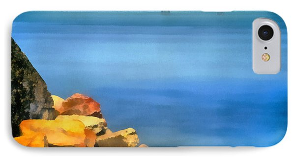Calm In Balaton Lake IPhone Case by Odon Czintos