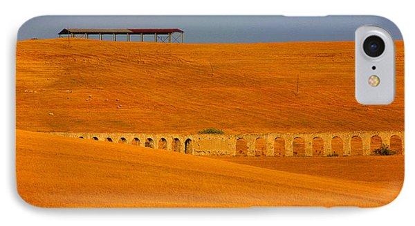 Tarquinia Landscape Campaign With Aqueduct IPhone Case