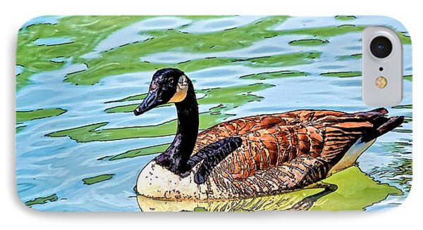 IPhone Case featuring the photograph Canada Goose by Ludwig Keck