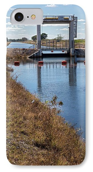 Canal Sluice Gate IPhone Case by Jim West