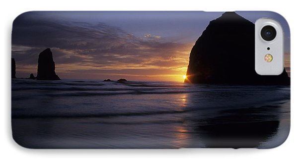 IPhone Case featuring the photograph Cannon Beach Sunset by Chris Scroggins