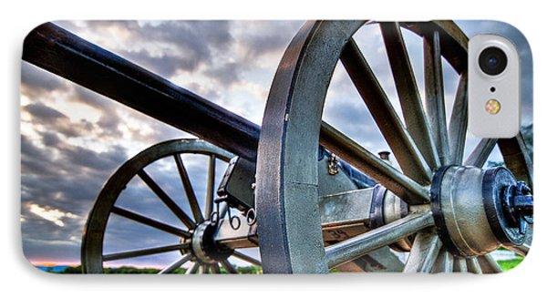 Cannon Over Gettysburg IPhone Case by Andres Leon