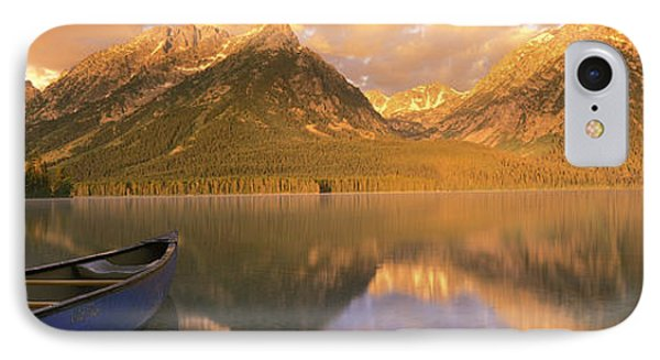 Canoe Leigh Lake Grand Teton National IPhone Case