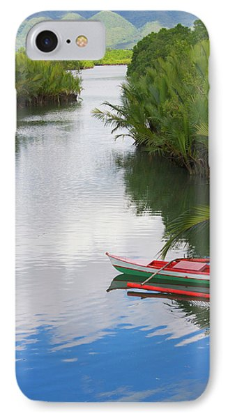 Canoe On The River, Bohol Island IPhone Case by Keren Su