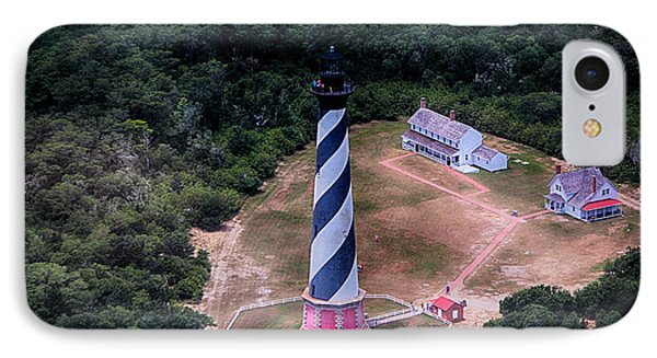 Cape Hatteras Lighthouse From Above IPhone Case by Tony Cooper
