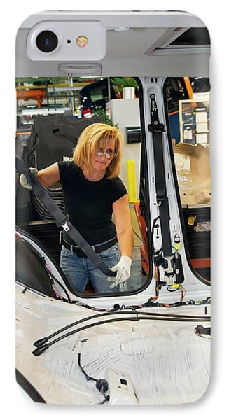 Car Production Assembly Line IPhone Case by Jim West