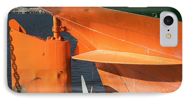 Cargo Ship Rudder IPhone Case by Jim West
