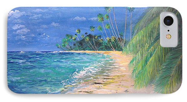 IPhone Case featuring the painting Caribbean Landscape by Egidio Graziani