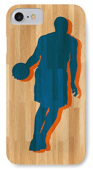 Carmelo Anthony New York Knicks IPhone Case by Joe Hamilton