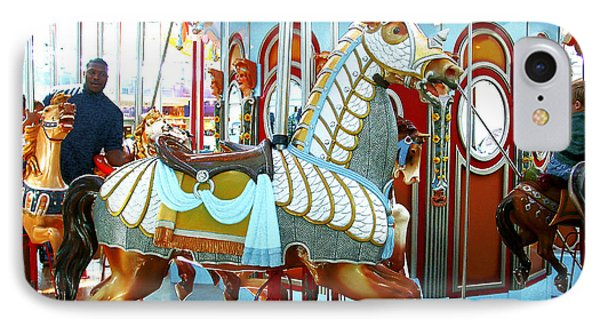 IPhone Case featuring the photograph Carousel Horse by Merton Allen