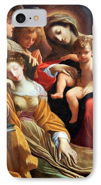 Carracci's The Dream Of Saint Catherine Of Alexandria IPhone Case by Cora Wandel