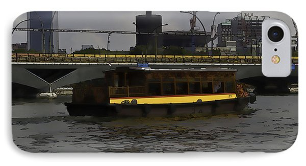 Cartoon - Colorful River Cruise Boat In Singapore IPhone Case