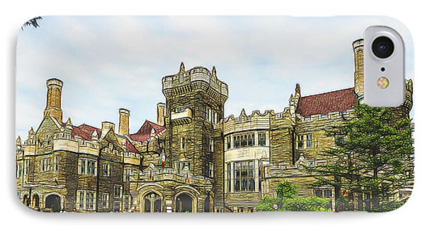 Casa Loma In Toronto IPhone Case by Les Palenik