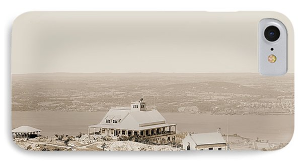 Casino At The Top Of Mt Beacon In Sepia Tone IPhone Case