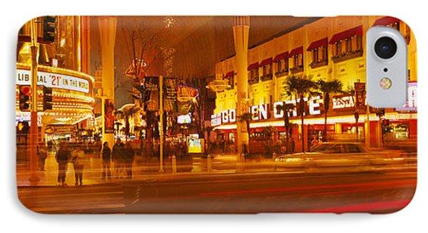 Casino Lit Up At Night, Fremont Street IPhone Case