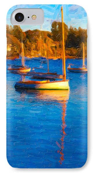 Cat Boat IPhone Case by Michael Petrizzo