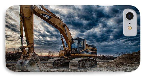 Cat Excavator IPhone Case