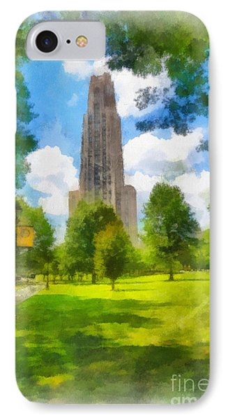 Cathedral Of Learning University Of Pittsburgh Phone Case by Amy Cicconi