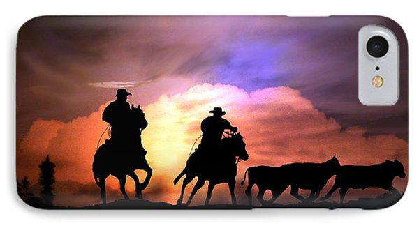 Cattle Drive Phone Case by Stephanie Laird