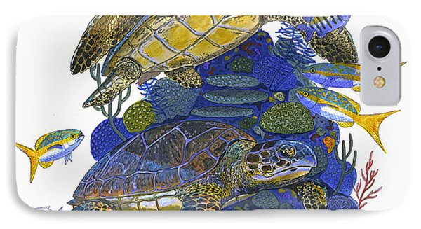 Cayman Turtles Phone Case by Carey Chen