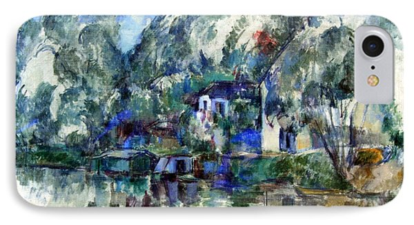 Cezanne's At The Water's Edge IPhone Case by Cora Wandel