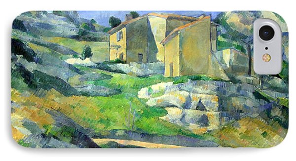 Cezanne's Houses Of  Provence -- The Riaux Valley Near L'estague IPhone Case by Cora Wandel