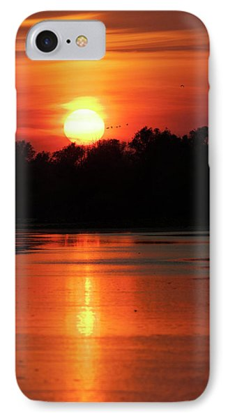 Channels And Lakes During Sunset IPhone Case
