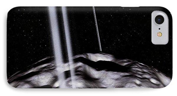 Chariklo Minor Planet And Rings IPhone Case by Detlev Van Ravenswaay