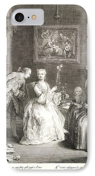 Charles Joseph Flipart French, 1721-1797 After Pietro IPhone Case by Litz Collection