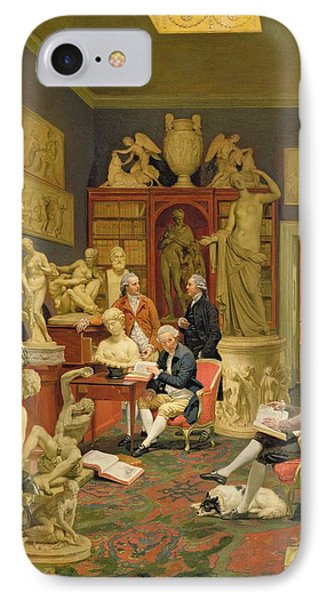 Charles Townley And His Friends Phone Case by Johann Zoffany