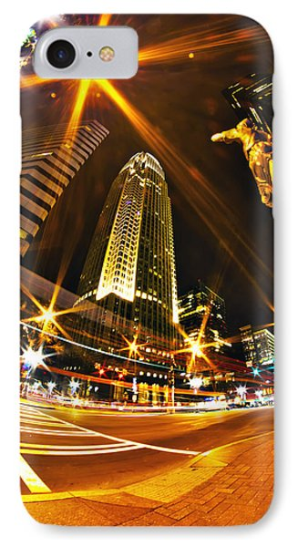 Charlotte Nc Usa  Nightlife Around Charlotte IPhone Case by Alex Grichenko