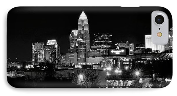 Charlotte Panoramic In Black And White IPhone Case by Frozen in Time Fine Art Photography