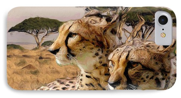 Cheetah Brothers Phone Case by Roger D Hale