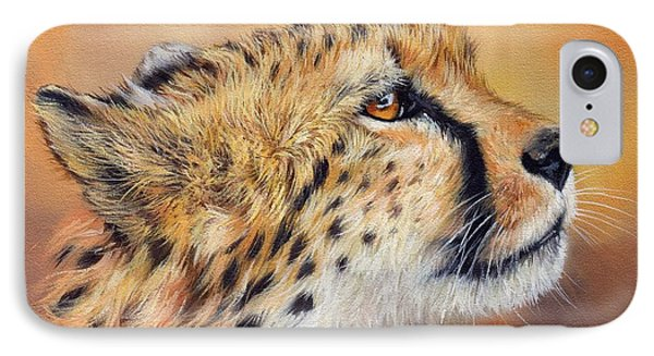 Cheetah IPhone Case by David Stribbling