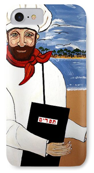 IPhone Case featuring the painting Chef From Israel by Nora Shepley