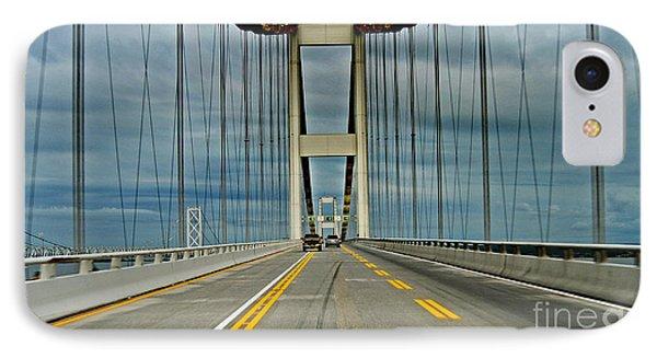 Chesapeake Bay Bridge At Annapolis IPhone Case by Skip Willits