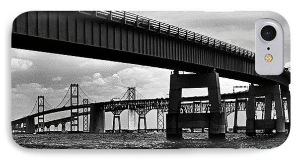 Chesapeake Bay Bridge  IPhone Case by Skip Willits