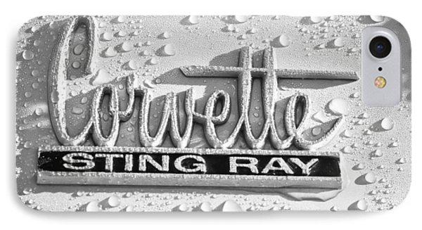 Chevrolet Corvette Sting Ray Emblem IPhone Case by Jill Reger