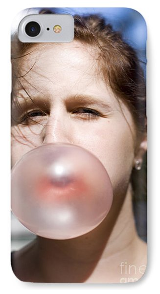 Chewing Gum Lady IPhone Case